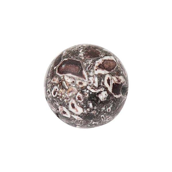 Jewellery Made by Me Kugel braun 12mm Halbedelstein 2 Stück