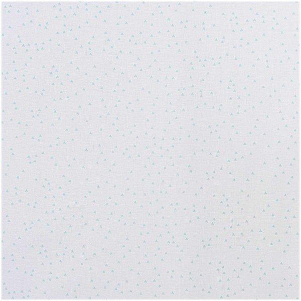 Rico Design Stoff Dreiecke weiß-mint 140cm