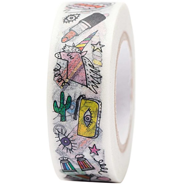 Paper Poetry Tape Magical Summer Cool Icon 15mm 10m