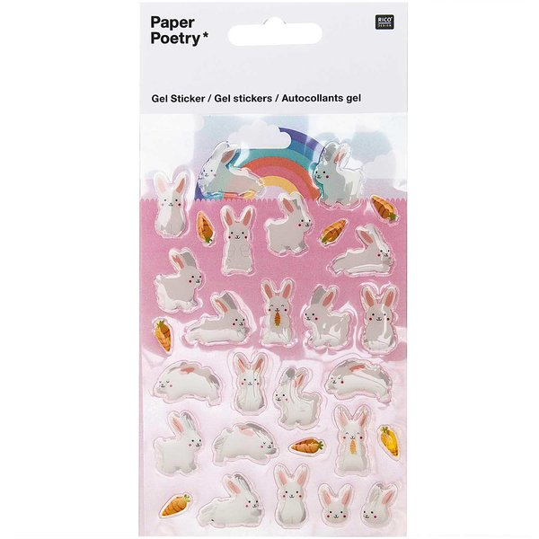 Paper Poetry Gelsticker Häschen