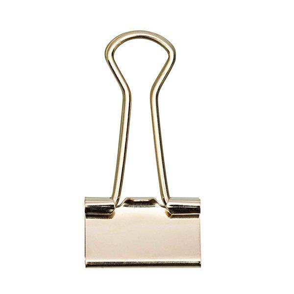 Rico Design Foldbacklammer Gold 25mm 12Stück zum basteln Adventskalender Klammer