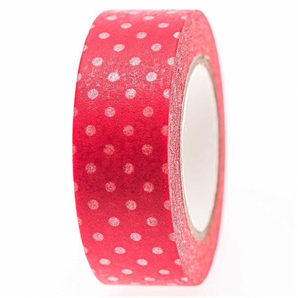 Rico Design Tape rot-weiße Punkte 15mm 10m