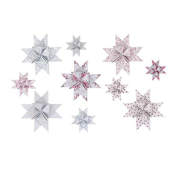 Rico Design Fröbelstreifen Floral Mix 60 Stück