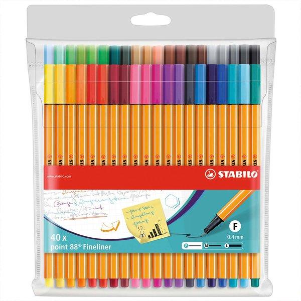 Stabilo Point 88 Fineliner im Etui 40 Farben