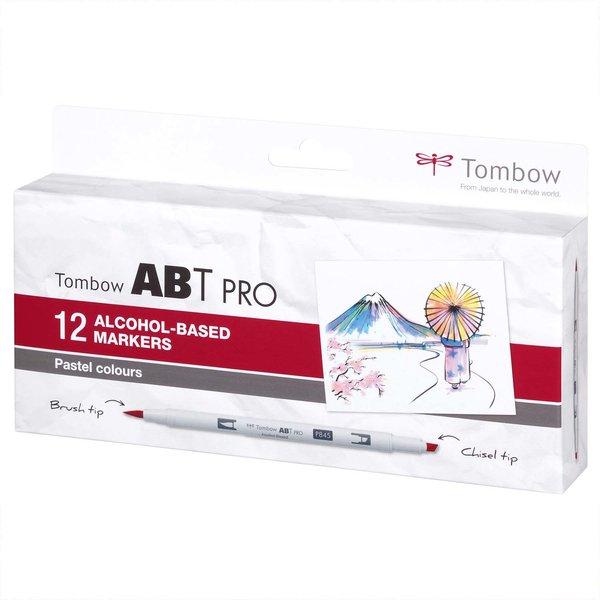 Tombow ABT PRO Pastell Colours Alkoholbasierte Marker 12teilig