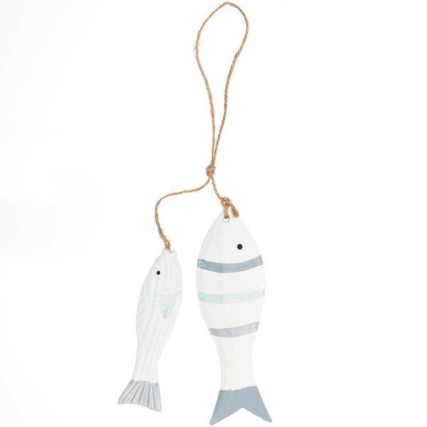 Hänger Fische weiß-blau-grau 2 Stück
