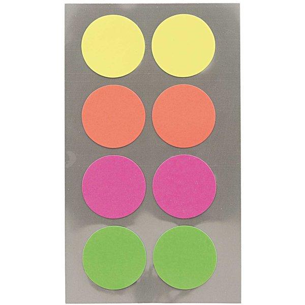 Paper Poetry Office Sticker Punkte neonmix 25mm 4 Bogen