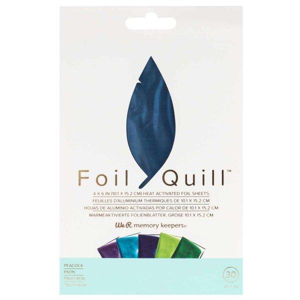 We R Memory Keepers Foil Quill Transferfolien Set Peacock 10,1x15,2cm 30 Blatt