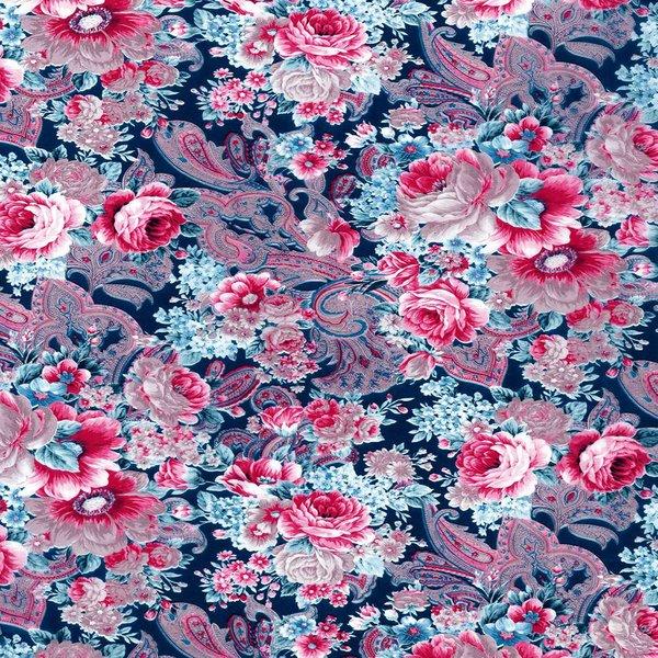 décopatch Papier Rosen paisley lila 3 Bogen