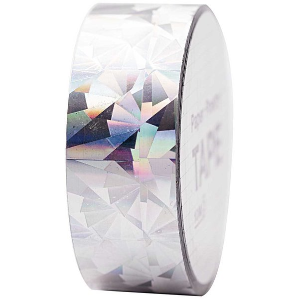 Paper Poetry Holographic Tape Kristall silber 19mm 10m