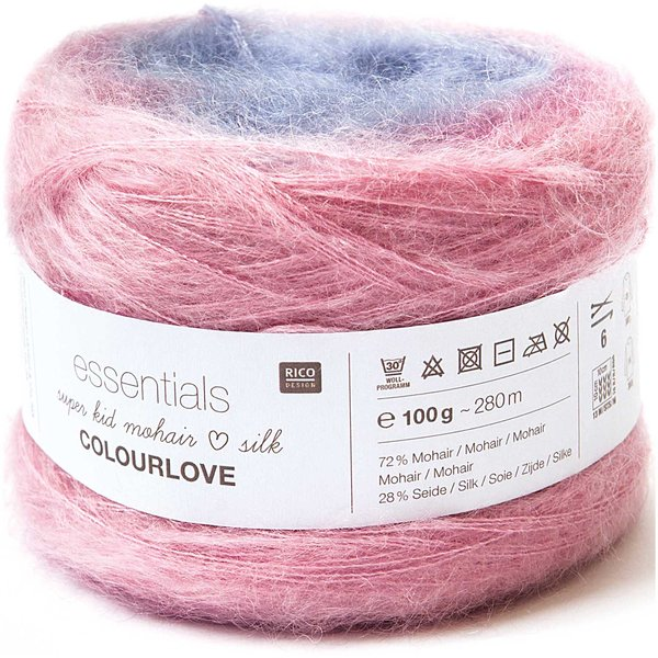 Rico Design Essentials Super Kid Mohair Loves Silk Colourlove 100g 280m