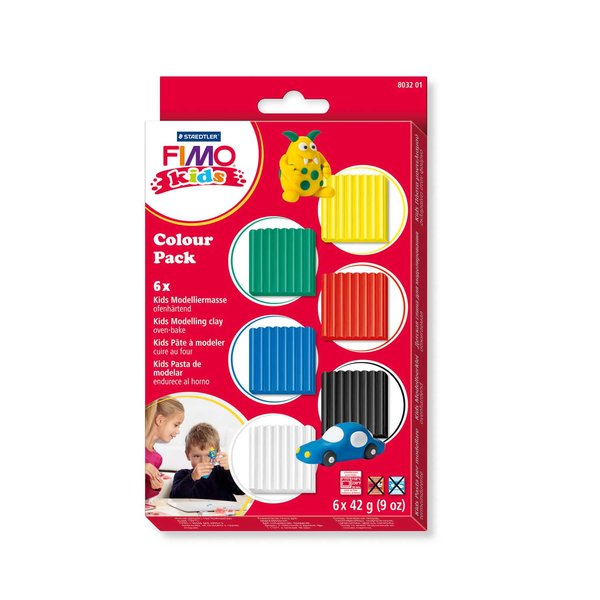 Staedtler FIMO kids Colour Pack basic 6x42g