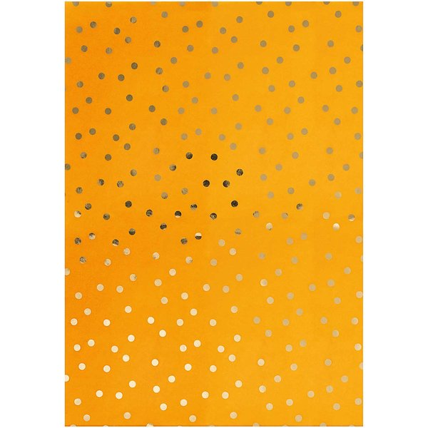Rico Design Paper Patch Papier Punkte senfgelb 30x42cm