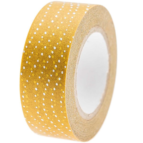 Paper Poetry Tape Mermaid Wellen senf 1,5cm 10m