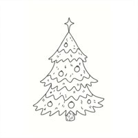 May&Berry Stempel Tannenbaum weiß 35x55mm