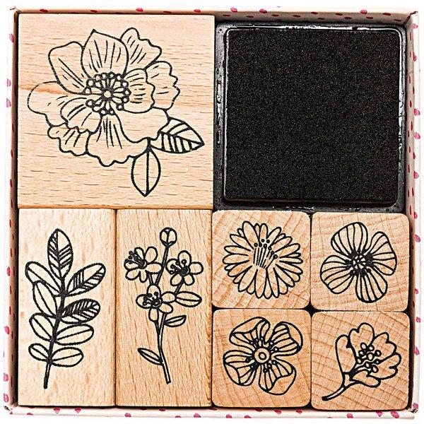 Paper Poetry Stempelset Hygge Flowers 8teilig