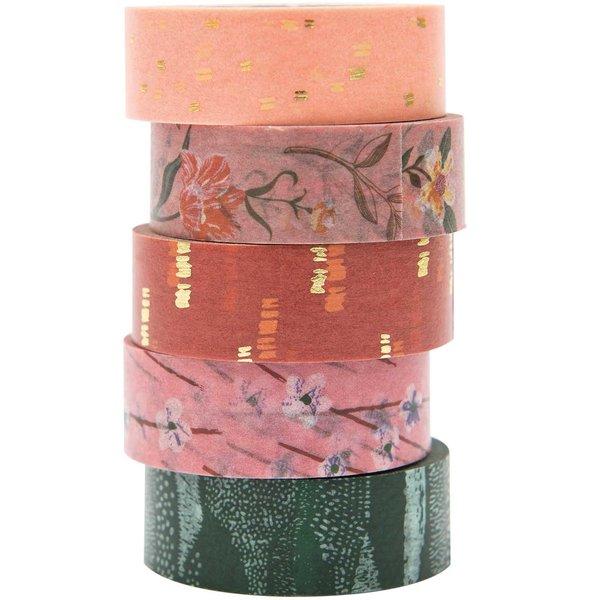 Paper Poetry Tape Set Blumen 5teilig