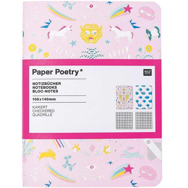 Paper Poetry Notizbücher Wonderland A6 40 Seiten 2 Stück
