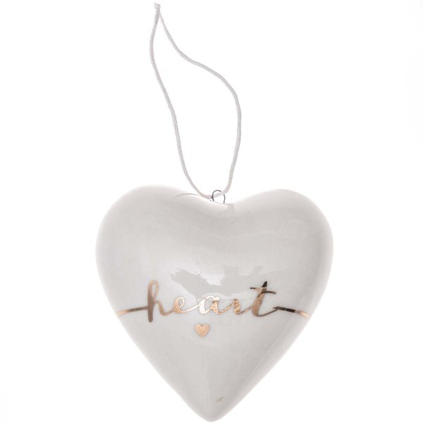 Herz Dream weiß 7cm Porzellan