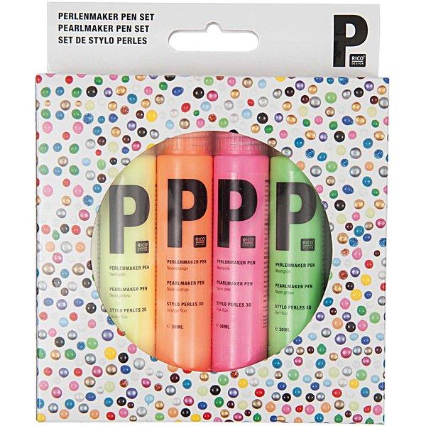 Rico Design Perlenmaker Pen Set neon 6x30ml