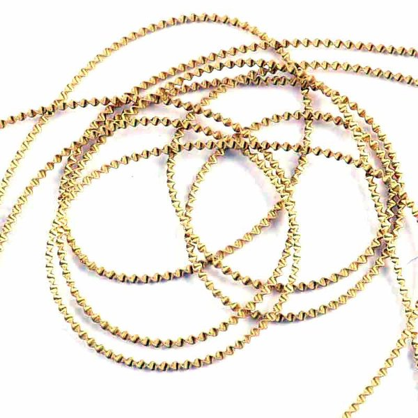 Bouillondraht grob gold 2m