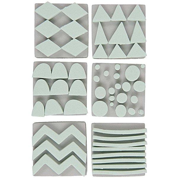 Rico Design Moosgummistempel Set Muster 4,2x4,2cm