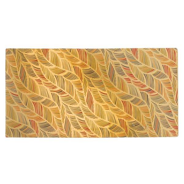 efco Wachsplatte Federn gold 20x10cm