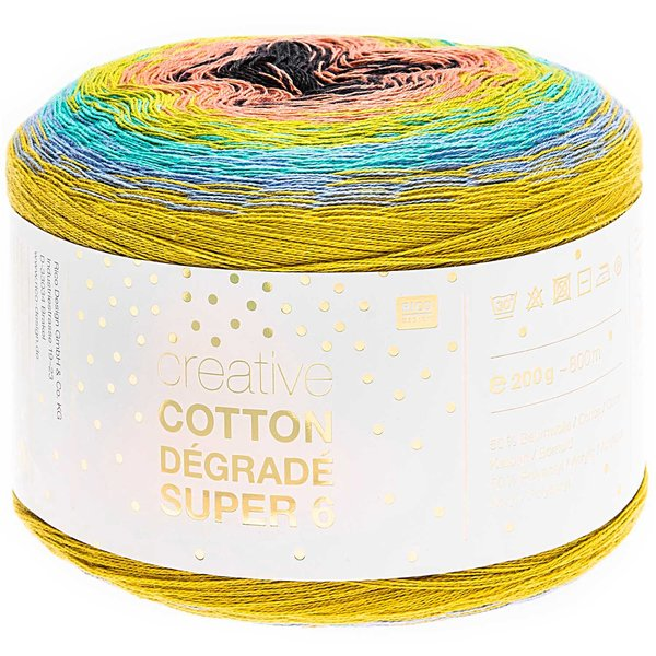 Rico Design Creative Cotton Dégradé Super6 200g 800m