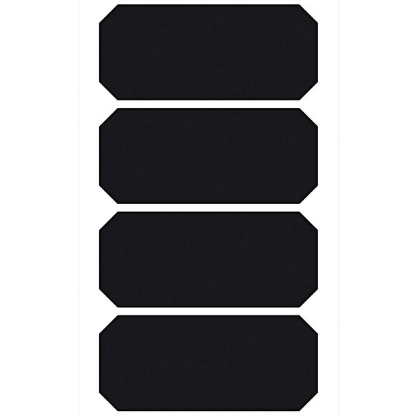 Paper Poetry Tafelfolien Sticker Etiketten schwarz 4 Stück