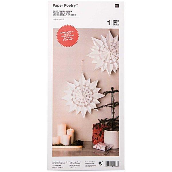 Rico Design Papiertüten-Stern weiß groß