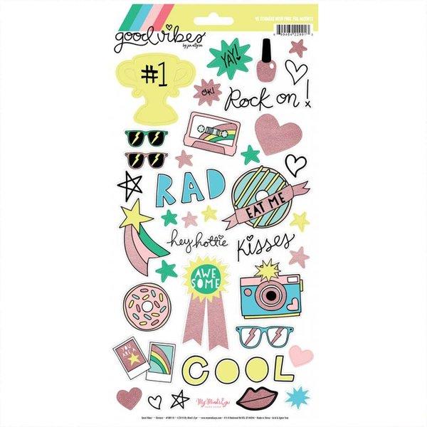 DECOHOBBY MyMindsEye Good Vibes - Sticker Sheet 15,2x30,5cm