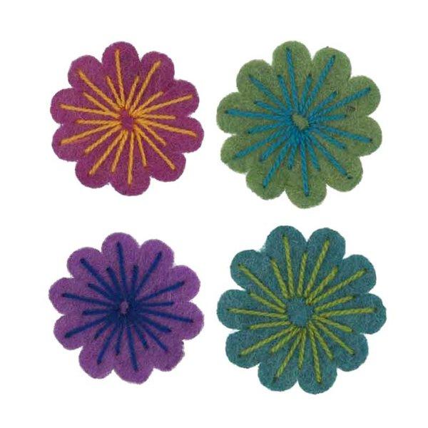 Rico Design Filzblüten 4 Stück