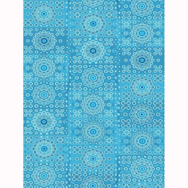 décopatch Papier Kreisornamente blau 3 Bogen