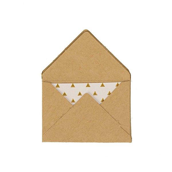 Paper Poetry Mini Briefe Kraftpapier 3x4,5cm 10 Stück