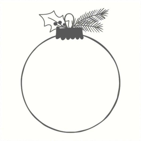 May&Berry Stempel Weihnachtskugel weiß 45x45mm