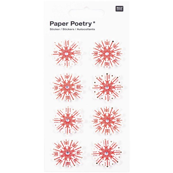 Paper Poetry 3D Sticker Eiskristalle Hot Foil