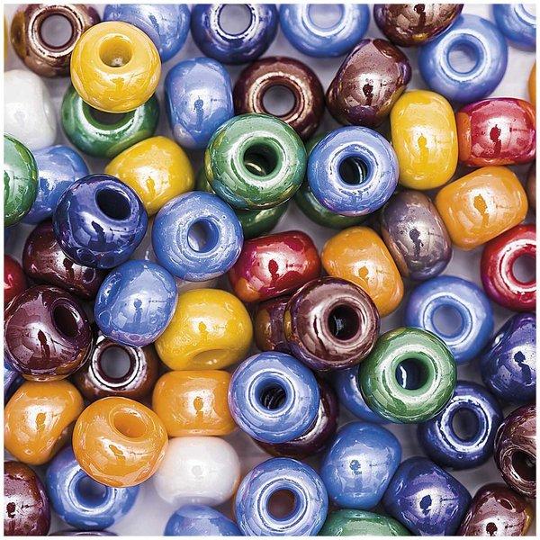 Jewellery Made by Me Glasperlen opak multicolor 8x5,5mm