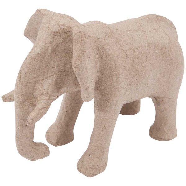 Rico Design Pappmaché Elefant groß 19,5x15x11,5cm