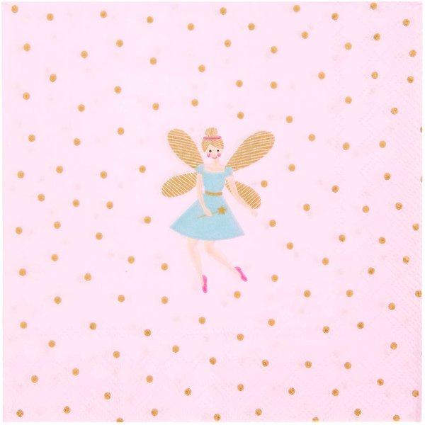 YEY! Let's Party Serviette Prinzessin 33x33cm 20 Stück
