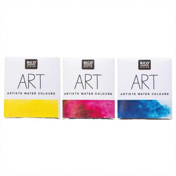 Rico Design ART Künstler Aquarellfarbe halbes Näpfchen