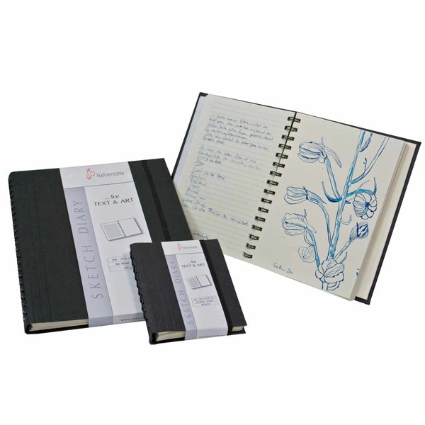 Hahnemühle Sketch Diary schwarz 80g/m² 80 Blatt