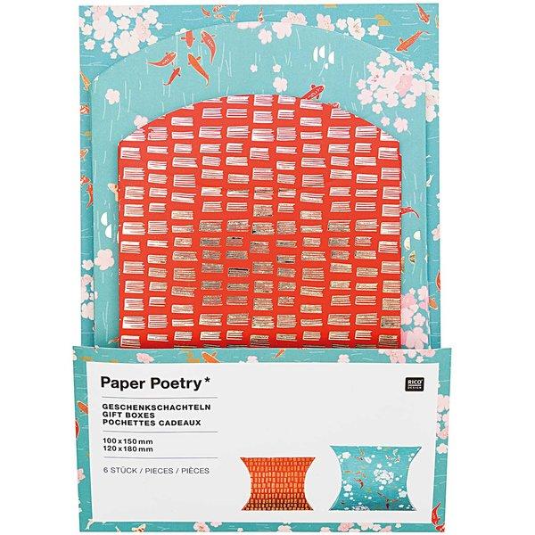 Paper Poetry Geschenkschachteln Jardin Japonais Kois 6 Stück