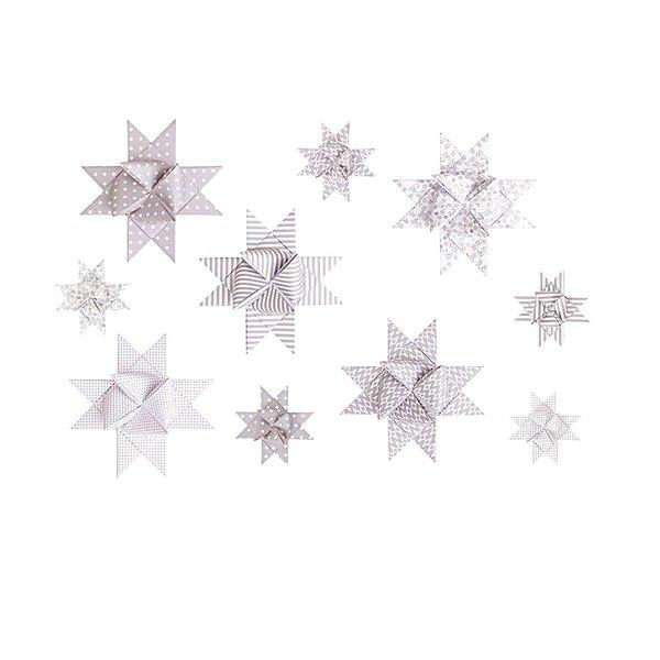 Paper Poetry Fröbelstreifen weiß-kitt mix 60 Stück