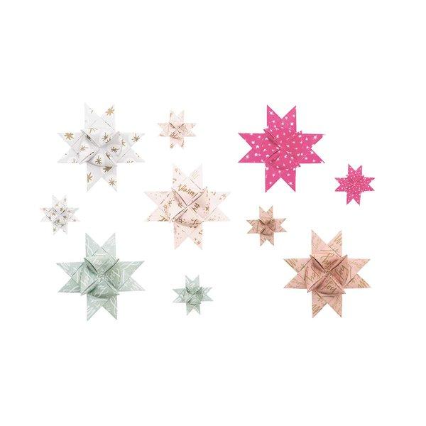 Paper Poetry Fröbelstreifen Jolly Christmas Schriften pastell 40 Stück