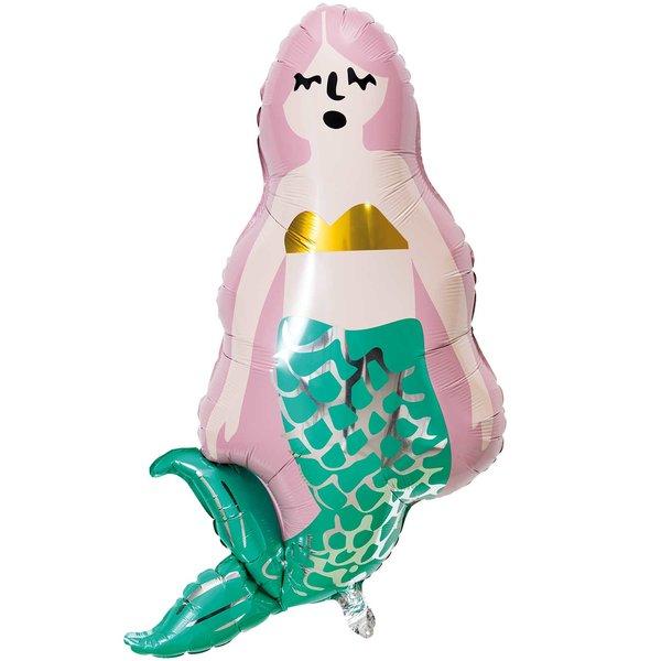 YEY! Let's Party Folienballon Meerjungfrau 55x100cm