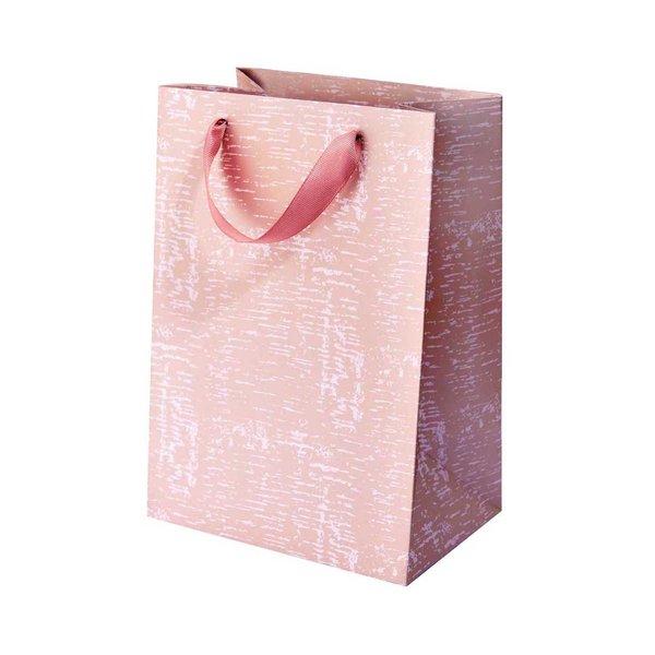 Paper Poetry Geschenktüte Struktur flieder 18x26x12cm