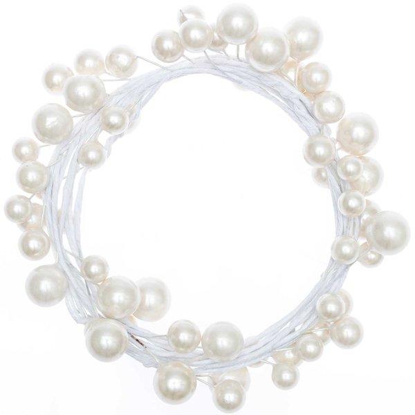 Perlenkranz weiß Ø 16cm