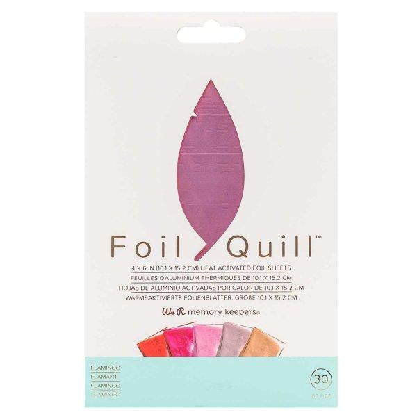 We R Memory Keepers Foil Quill Transferfolien Set Flamingo 10,1x15,2cm 30 Blatt