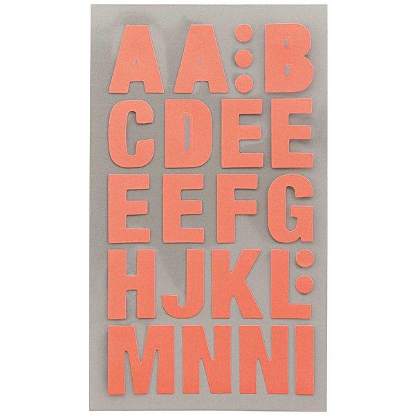 Paper Poetry Office Sticker Buchstaben neonrot 4 Bogen