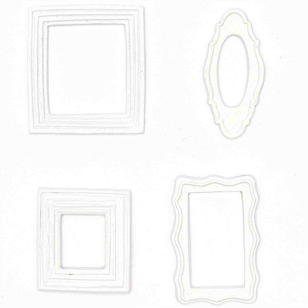 Dekorahmen Style 1 weiß 4 Stück